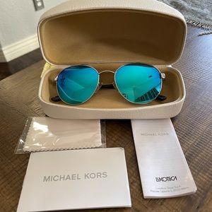 Like New Michael Kors Blue Aviator Sunglasses